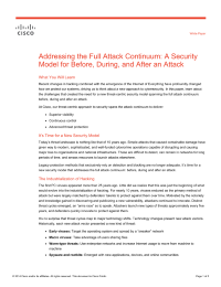 Addressing the Full Attack Continuum: A Security Model for Before, During, and After an Attack