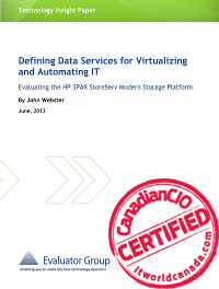 Defining data services for virtualizing and automating IT