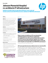 Johnson memorial hospital rearchitects IT infrastructure