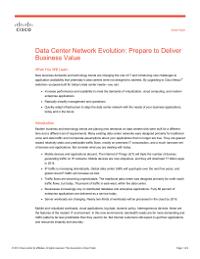 Data Center Network Evolution: Prepare to Deliver Business Value