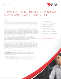 Stay Secure After Microsoft Windows Server 2003 Reaches End of Life