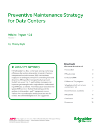 Preventive Maintenance Strategy for Data Centres