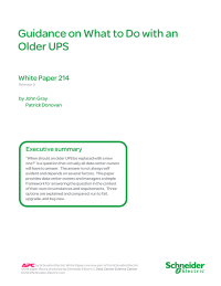Guidance on what to do with an older UPS