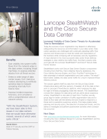 Lancope StealthWatch and the Cisco Secure Data Center