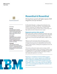 Rosenthal & Rosenthal Case Study