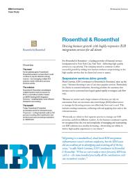 Rosenthal & Rosenthal Case Study
