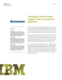 Creating a world class supply chain commerce platform