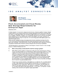IDC White Paper: Flash Accelerated and Cloud Ready: New Storage Requirements for Enterprise Apps
