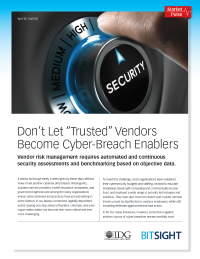 Don't Let 'Trusted' Vendors Become Cyber-Breach Enablers