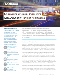 Empowering Enterprise Decisioning with Analytically Powered Applications