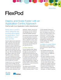 FlexPod: Deploy and Scale Faster with an Application-Centric Approach