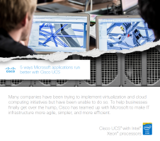 5 ways Microsoft applications run better with Cisco UCS