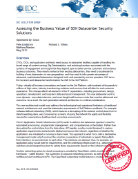 Assessing the Business Value of SDN Datacenter Security Solutions