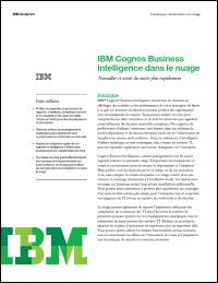 IBM Cognos Business Intelligence dans le nuage