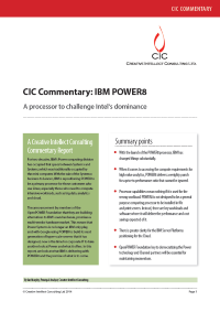 CIC Commentary: IBM POWER8