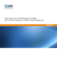 Supporting Your Data Management Strategy with a Phased Approach to Master Data Management