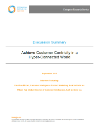 Achieve Customer Centricity in a Hyper-Connected World