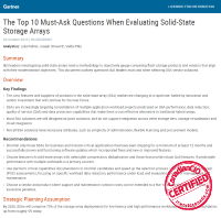 The Top 10 Must-Ask Questions When Evaluating Solid-State Storage Arrays