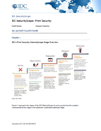 IDC Print Security MaturityScape Stage Overview