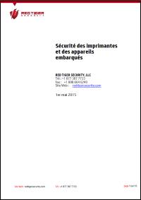 Les imprimantes en réseau et la sécurité