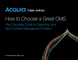 How to Choose a Great CMS