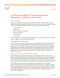 Continuous Endpoint Threat Detection and Response in a Point-in-Time World