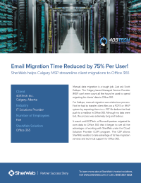 Tech Email Migration Time Reduced by 75% Per User!