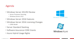 Windows Server 2016: The New Core Based Licensing Model