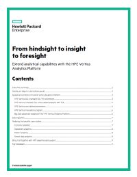 From hindsight to insight to foresight