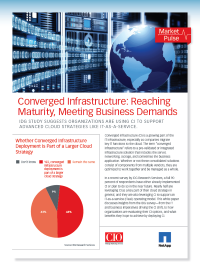Converged Infrastructure - Reaching Maturity, Meeting Business Demands