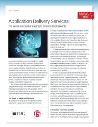 Application Delivery Services: The Key to Successful Integrated Systems Deployments