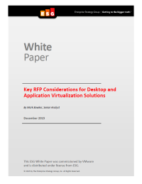 Key RFP Considerations for Desktop and Application Virtualization Solutions