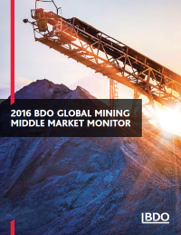 2016 BDO Global Mining Middle Market Monitor