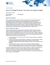 Why Lenovo for Hyperconverged?