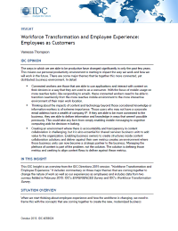 Workforce Transformation and Employee Experience: Employees as Customers