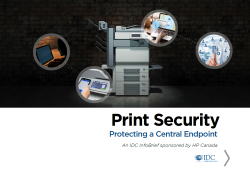 Print Security: Protecting a Central Endpoint