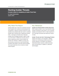 Hunting Insider Threats: Forrester's Model For Establishing An Insider Threat Team