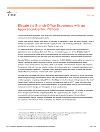 Elevate the Branch-Office Experience with an Application-Centric Platform