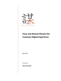 Cisco and Akamai Elevate the Customer Digital Experience