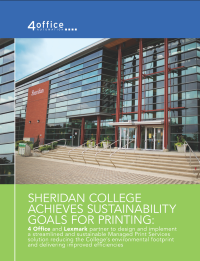 SHERIDAN COLLEGE ACHIEVES SUSTAINABILITY GOALS FOR PRINTING