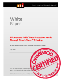 HP Answers SMBs' Data Protection Needs Through Simply StoreIT Offerings