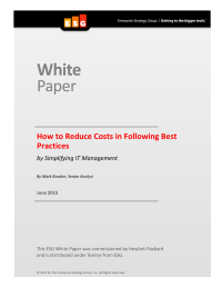 How to Reduce Costs in Following Best Practices ... by Simplifying IT Management