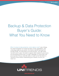 Backup & Data Protection Buyer's Guide: What You Need to Know
