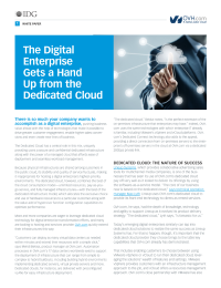 The Digital Enterprise Gets a Hand Up from the Dedicated Cloud