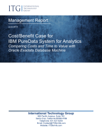 Cost Benefit Case for Pure Data System for Analytics