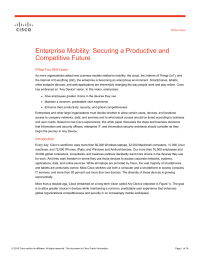Enterprise Mobility: Securing a Productive and Competitive Future