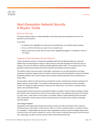 Next Generation Network Security A Buyers Guide