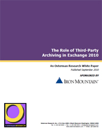 Role of 3rd party archiving in Exchange 2010