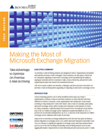 Making the most of MS Exchange Migration