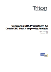 Comparing DBA Productivity: An Oracle/DB2 Task Complexity Analysis